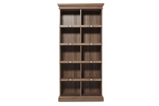 Sauder Tall Cubby Style Bookcase