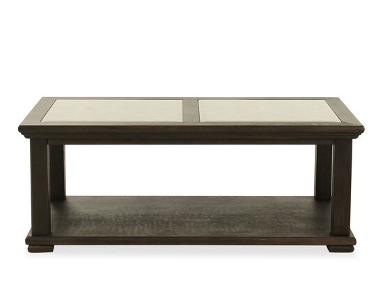 Casual Rectangular Cocktail Table in Black