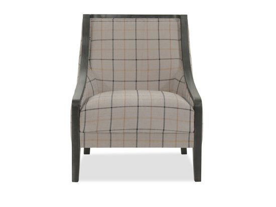 "Plaid Casual 28"" Accent Chair"
