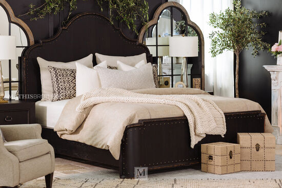 """72"""" Traditional King Panel Bed in Kettle Black"""