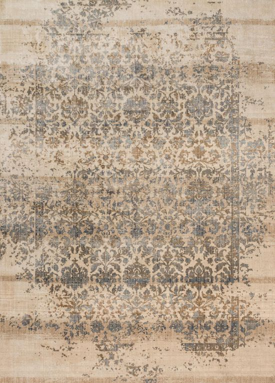 """Contemporary 1'-6""""x1'-6"""" Square Rug in Ivory/Quarry"""