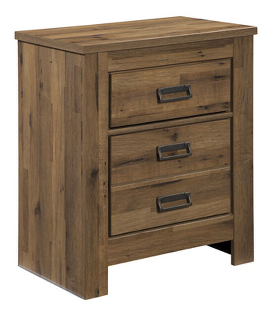 "29.5"" Casual Vintage Two-Drawer Nightstand in Brown"
