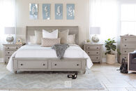 Broyhill Kearsley Gray Queen Sleigh Storage Bed