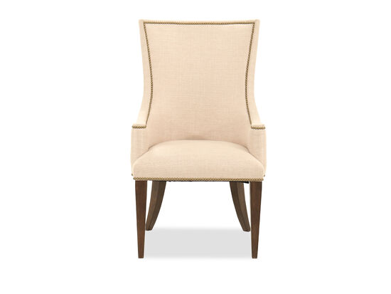 """Contemporary 42"""" Host Arm Chair in Beige"""
