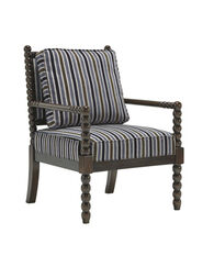 """Stripe Textured Traditional 29"""" Accent Chair"""