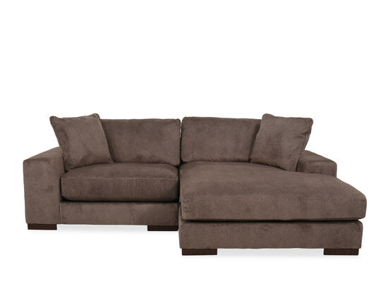 Two-Piece Contemporary Sectional in Graphite