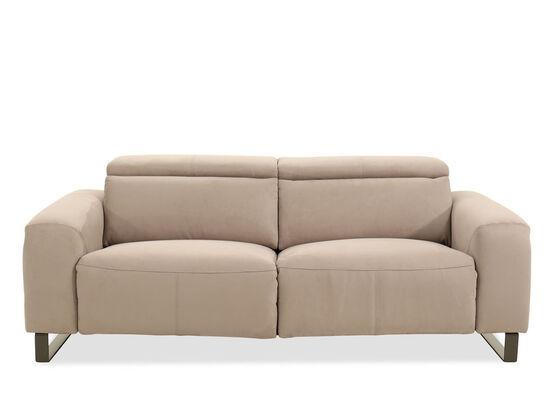 "Microfiber 84"" Reclining Sofa in Gray"
