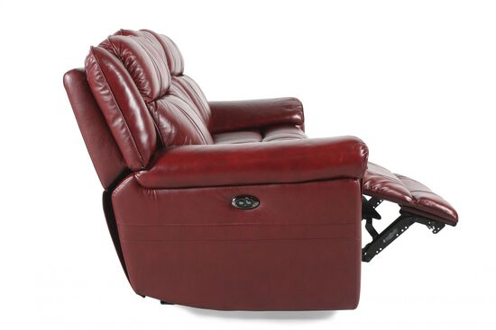 "Power Reclining 89"" Sofa in Chili Pepper"
