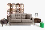 """Ashley 79"""" Modern Tufted Sofa in Warm Stone"""