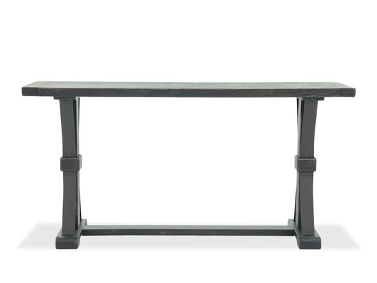 X-Braced Casual Sofa Table in Black