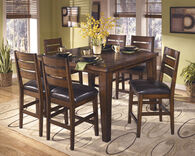 "Transitional 42"" Armless Bar Stool in Burnished Dark Brown"