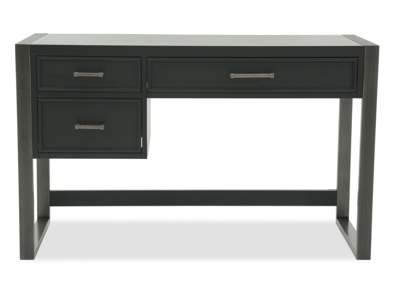 Transitional Three Drawer Youth Desk In Gray Mathis