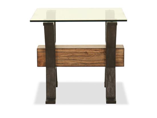Rectangular End Table in Nutmeg