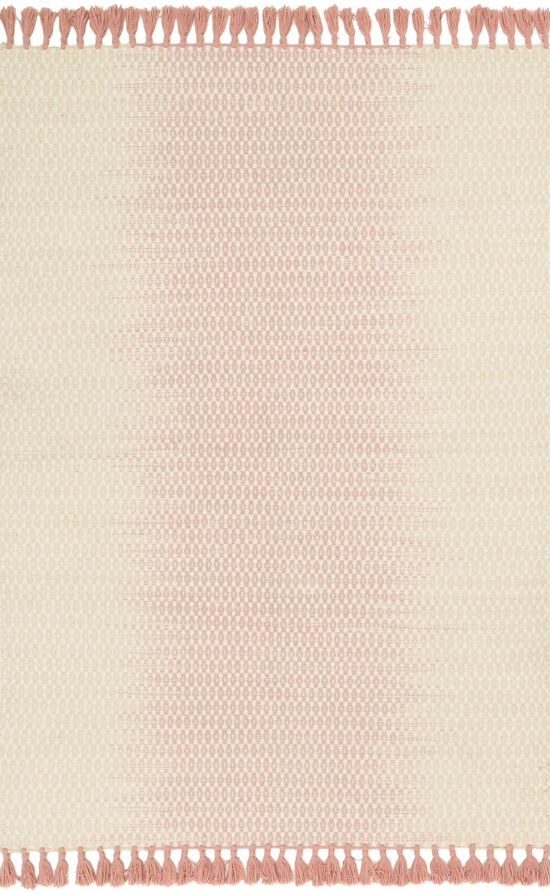 """Transitional 1'-6""""x1'-6"""" Square Rug in Ivory/Blush"""