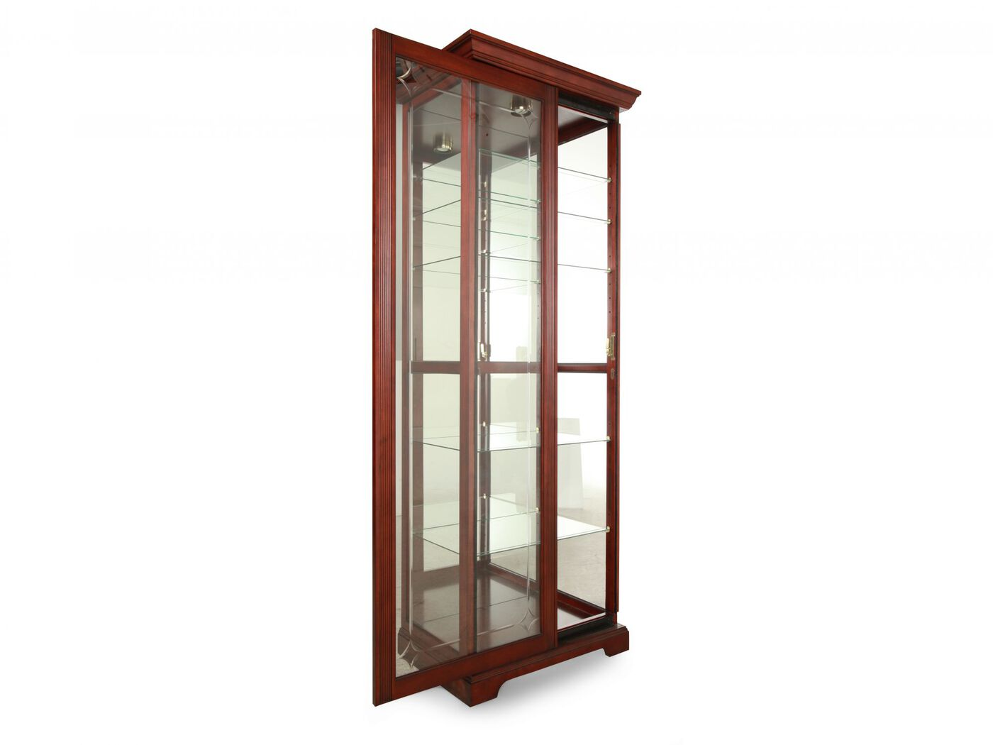 Two Way Door pulaski cherry two-way sliding door curio | mathis brothers furniture