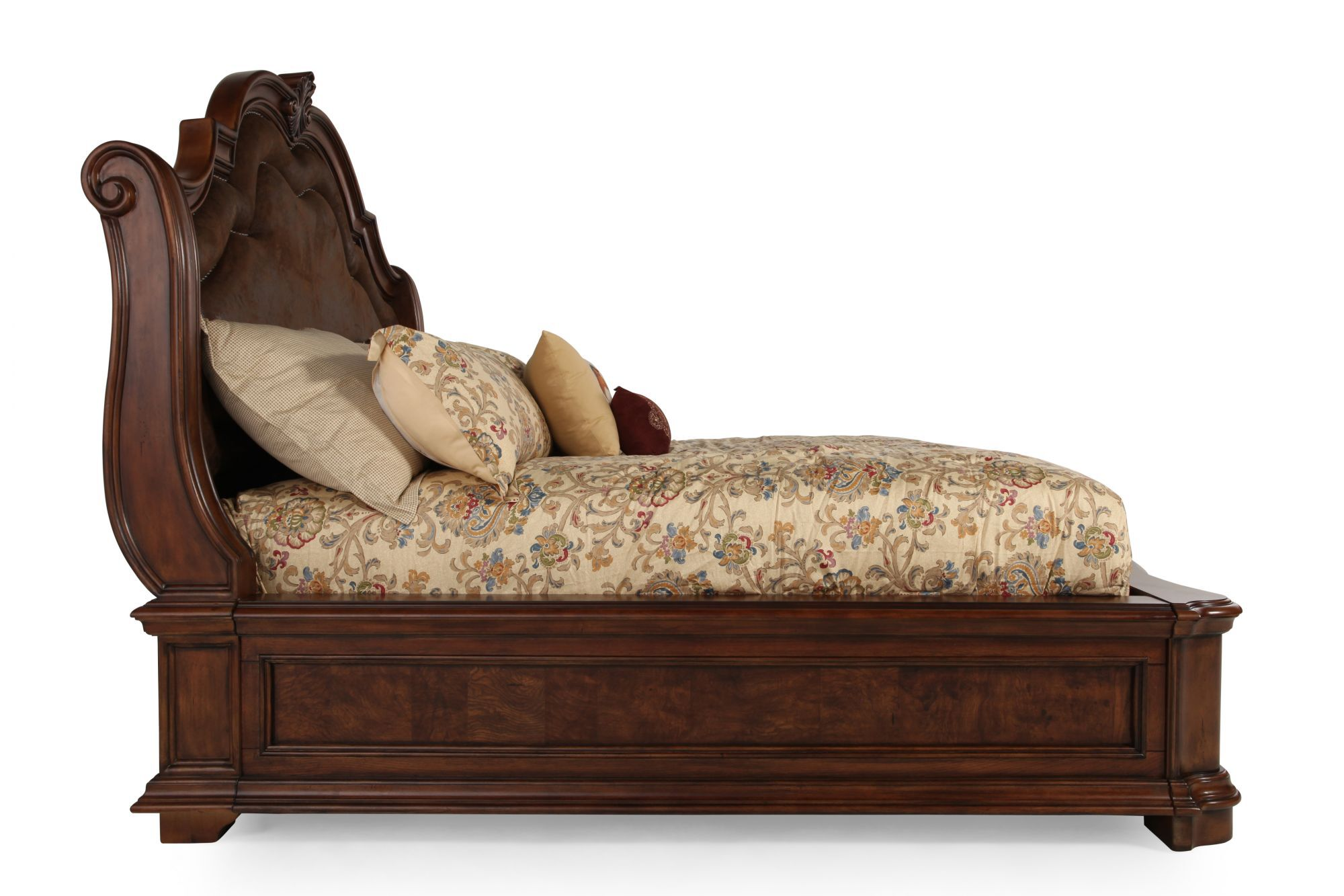 76u0026quot; Traditional Arched Sleigh Bed ...