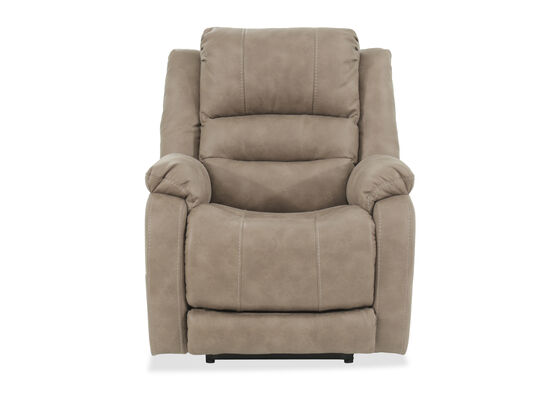 "Contemporary 34.5"" Power Recliner in Brown"