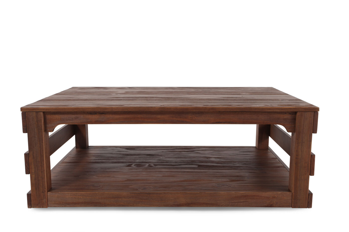 plank top contemporary cocktail table in brown mathis