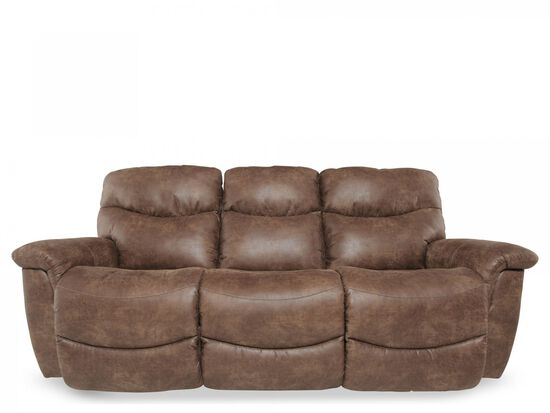 "Traditional 87"" Power Reclining Sofa in Brown"