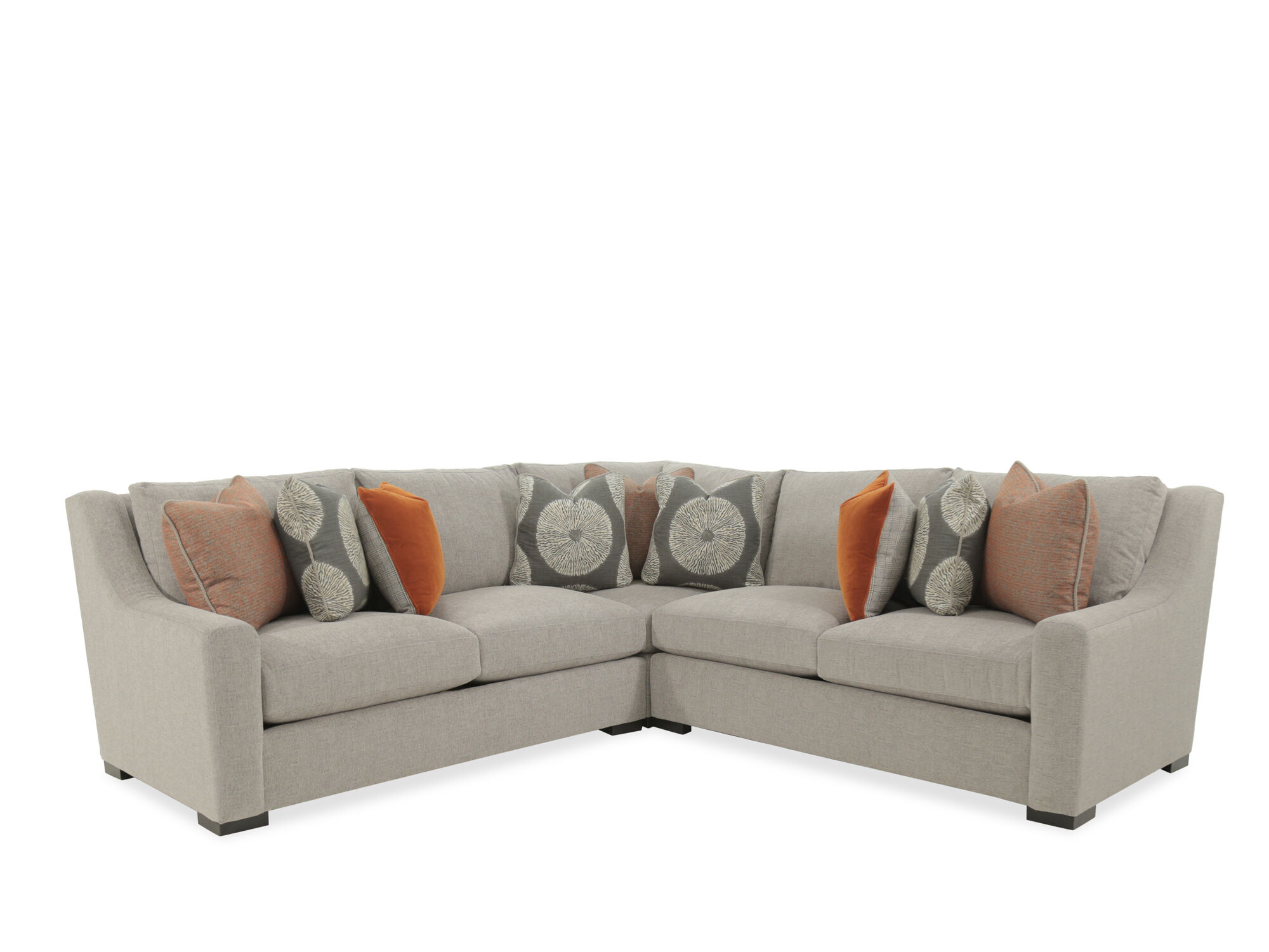 Images Three Piece Casual 140u0026quot; Sectional In Gray Three Piece Casual  140u0026quot; Sectional In Gray
