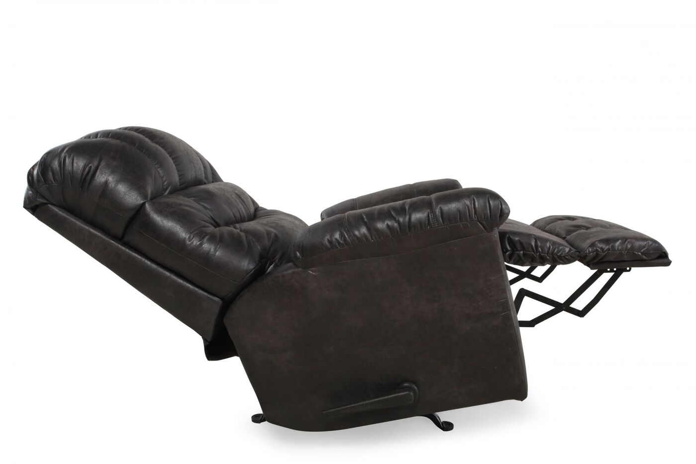 Contemporary 46 Rocker Recliner In Steel Gray Mathis Brothers Furniture