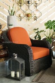 World Source Lakewood Orange Club Chair