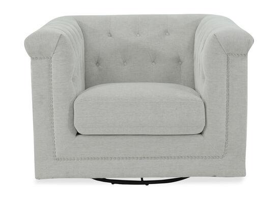 Tufted Modern Swivel Chair in Beige