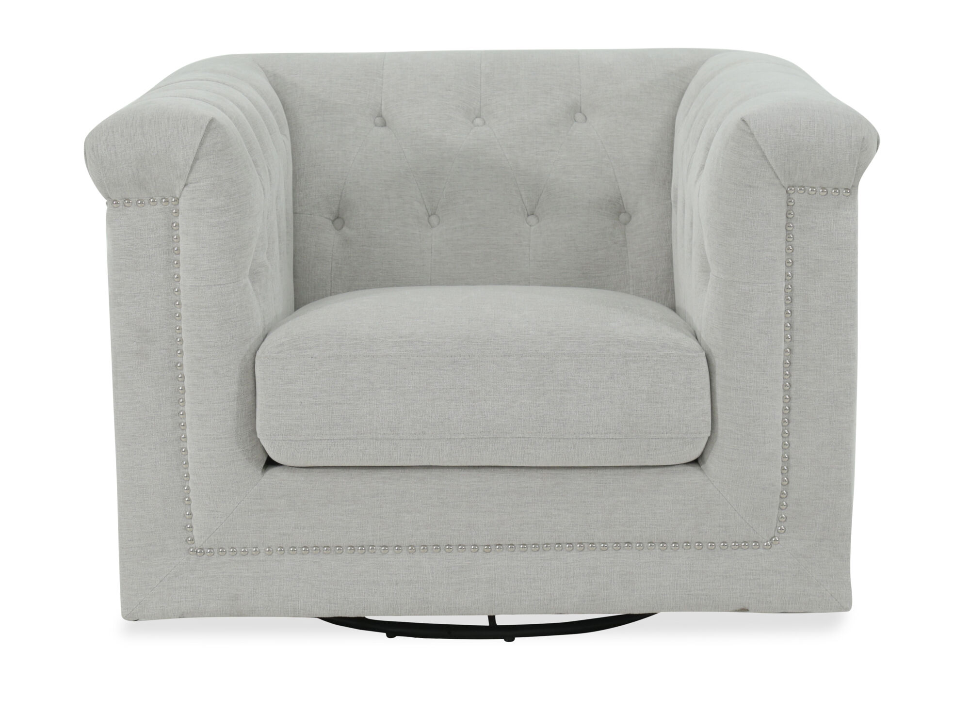 Delicieux Images Tufted Modern Swivel Chair In Beige ...