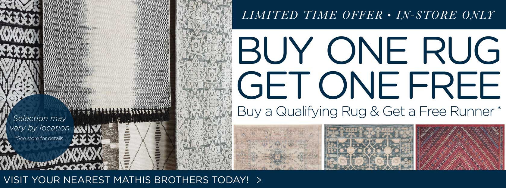 Rug BOGO, Find A Store Near You