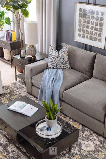 Rectangular Sofa Table in Smoke