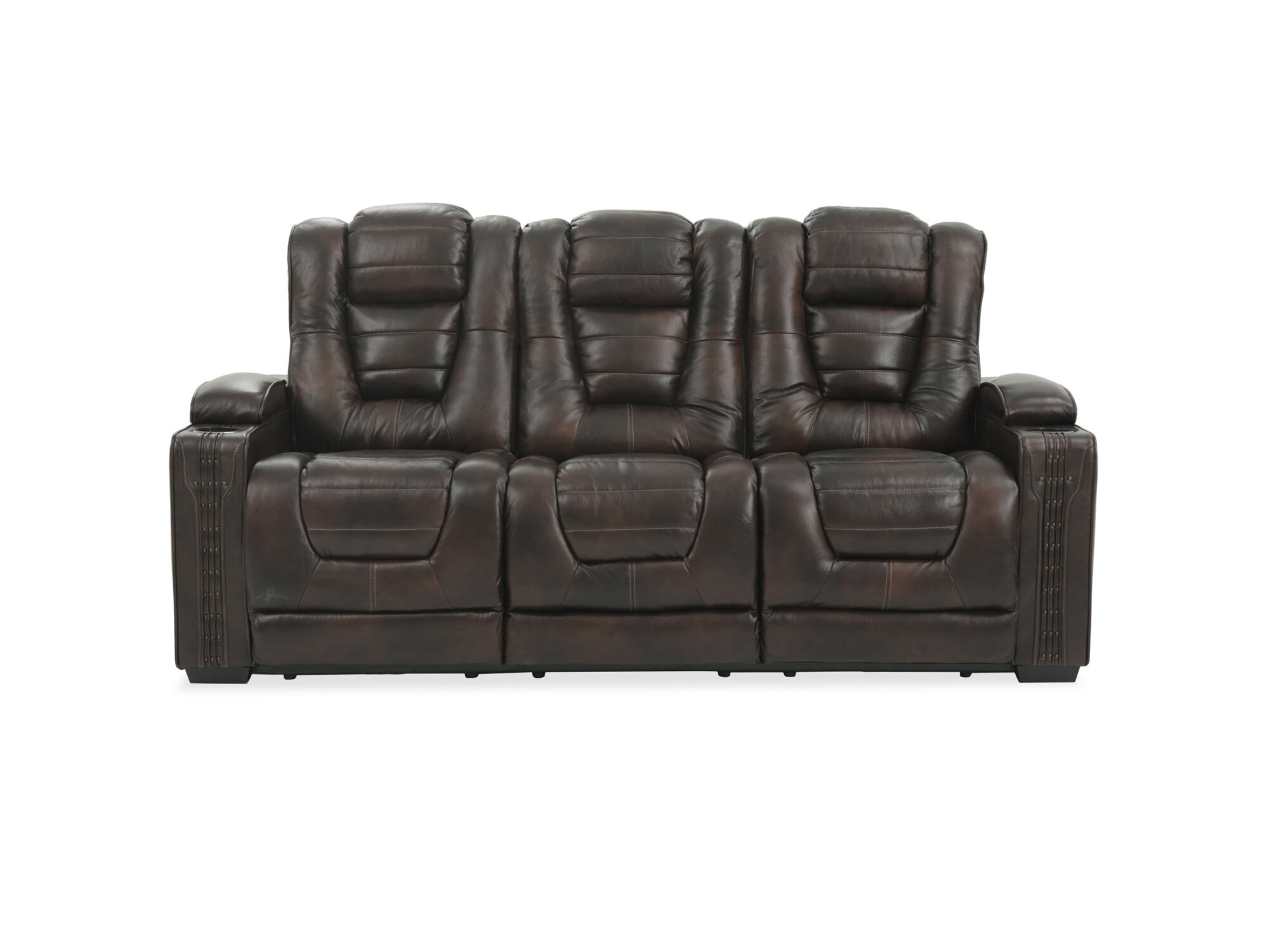 Thickly Padded Seats, Tufted Back And Cushy Arms Ensure Unmatched Comfort  All Day Long. This Sofa Also Comes With Cup Holders On Both Armrests For  Added ...