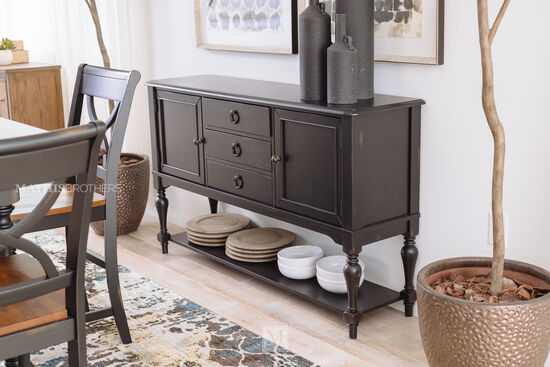 "Traditional 18"" Sideboard in Brown"