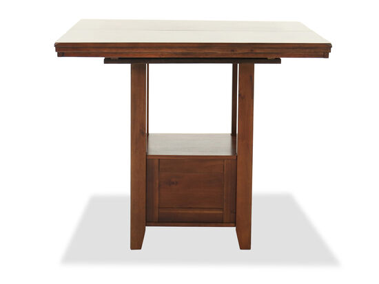 """Casual Extension 42"""" to 60"""" Dining Table in Brown"""
