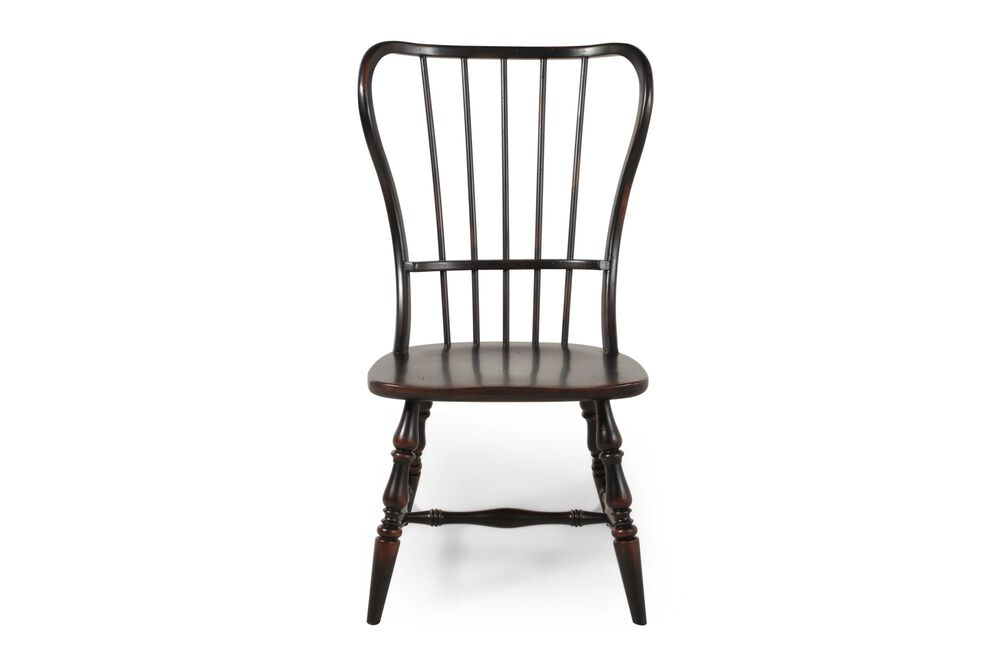 Two-Piece Spindle Back Side Chair Set in Espresso