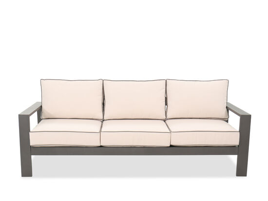Casual Aluminum Patio Sofa in Gray