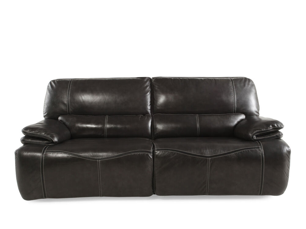 Images Reclining Leather 43 Sofa In Gray