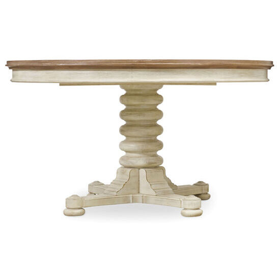 Sunset Point Pedestal Dining Table With One 18'' Leaf in Cream