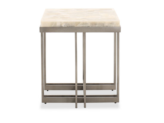 Rectangular Contemporary End Table in Pewter