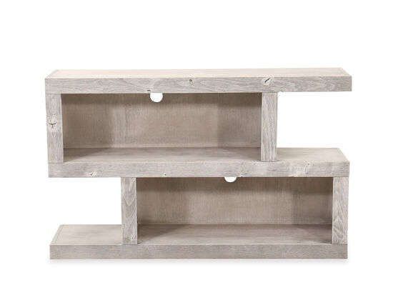 Transitional Sofa Table in Limestone