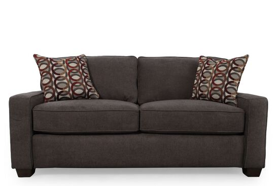 I rest casual 82 sleeper loveseat in granite mathis brothers furniture for Mathis brothers living room furniture