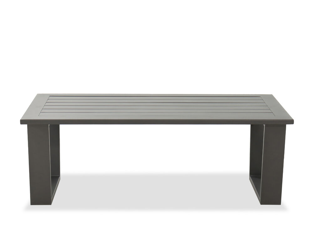 Aluminum Coffee Table in Gray