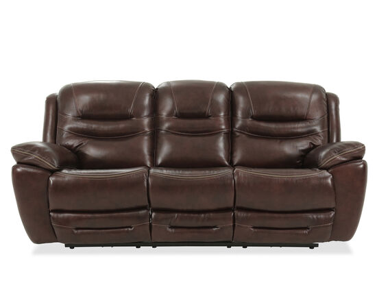 Leather Casual Power Reclining Sofa in Brown