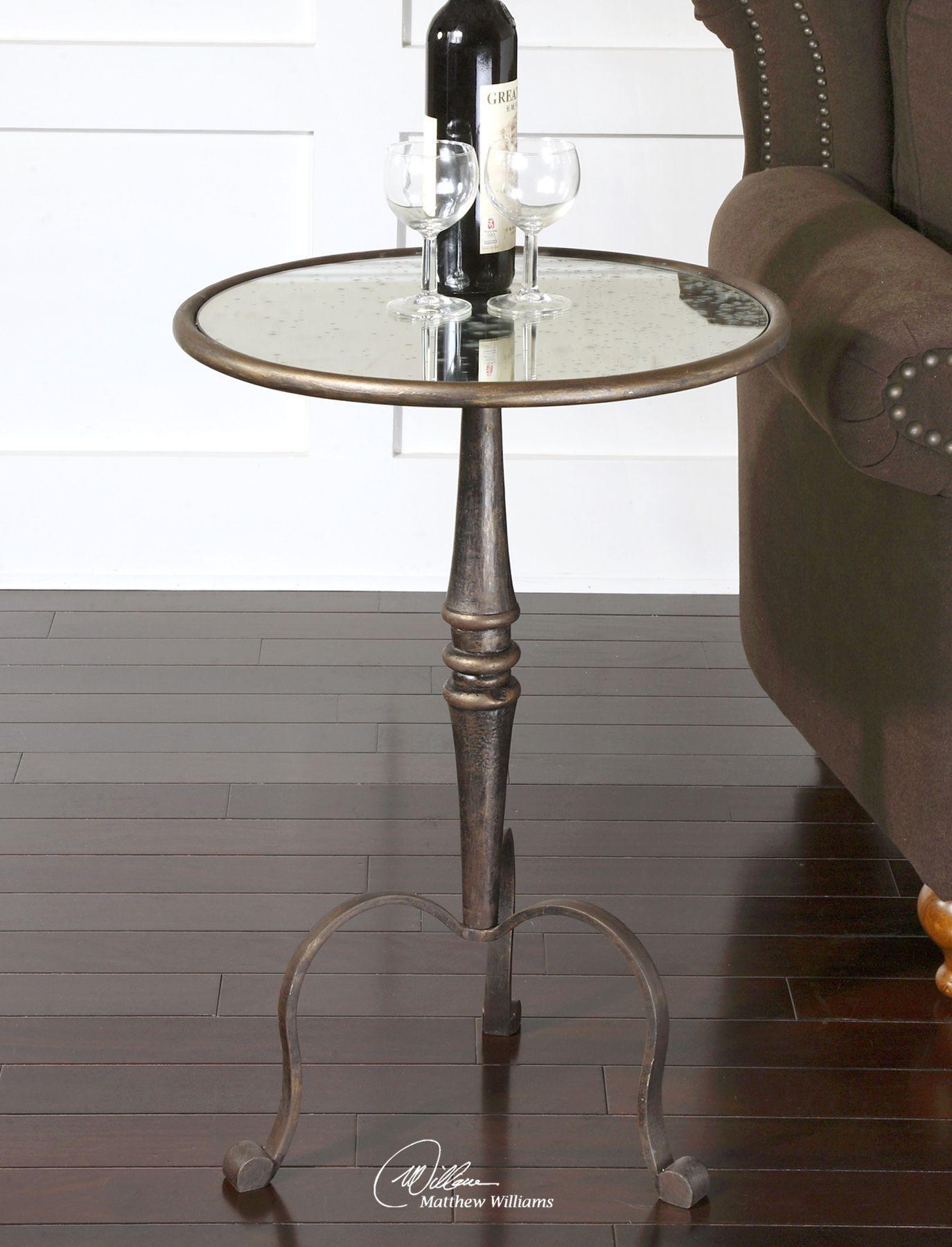 ... Mirrored Accent Table In Coffee Bronze. U2039 U203a