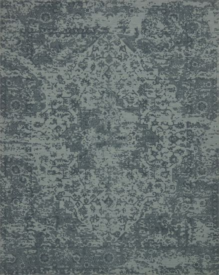 "Traditional 2'-6""x7'-6"" Rug in Teal"