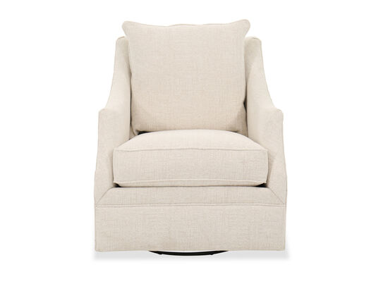 Transitional High Back Swivel Chair in Linen