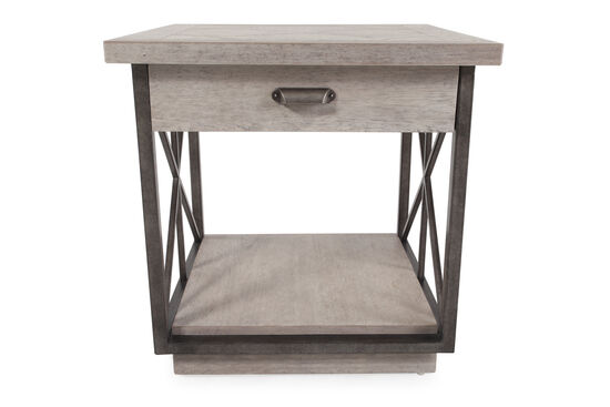 "24"" Traditional One-Drawer End Table in Mist"