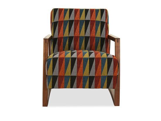 "Geometric-Patterned Modern 28"" Chair"