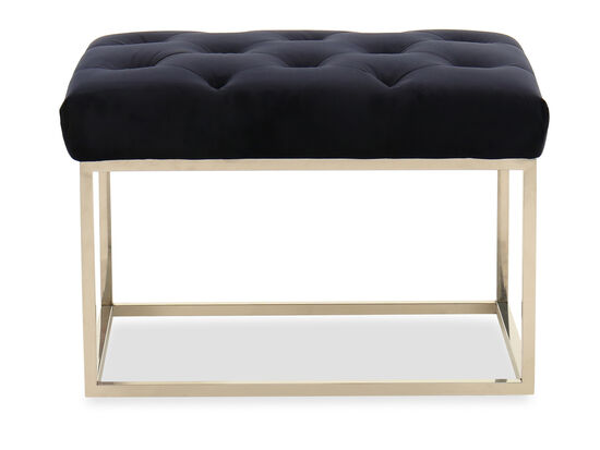 Button-Tufted Casual Bench in Navy