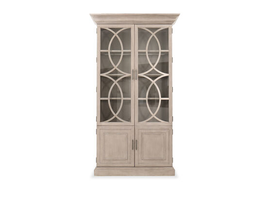 Casual Curio Display Cabinet in Ivory