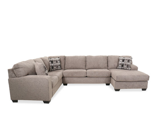 Three-Piece Contemporary Sectional in Gray